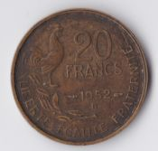 France, 20 Francs 1952 B, VF, WE1145